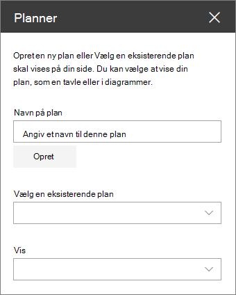Værktøjskassen webdelen planner