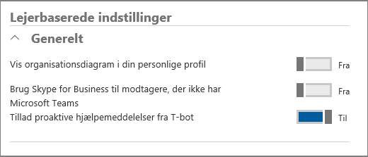 Lejerindstillinger