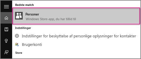 Skriv Personer i Windows 10