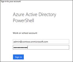Indtast dine legitimationsoplysninger til Office 365