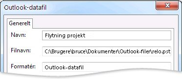 Dialogboksen Outlook-datafil