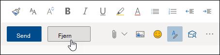 Et skærmbillede af knappen Slet