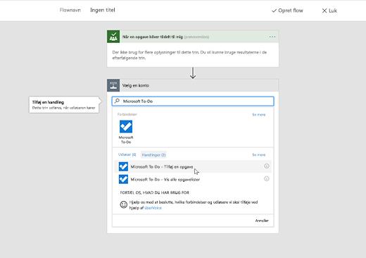Skærmbillede med Microsoft To-Do markeret