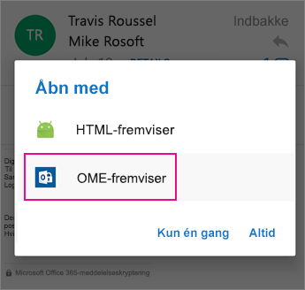 OME Viewer med Outlook til Android 2