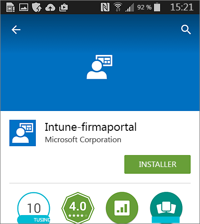 Installere Intune-firmaportal på Android
