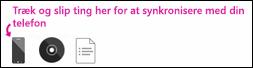 Synkronisering i Zune-softwaren