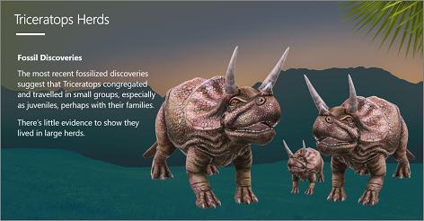 PowerPoint-skabelon med 3D-Triceratops dinosaur