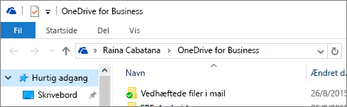 Gammel OneDrive for Business-klient til stationær pc