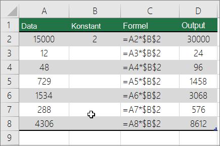 Multiplicere tal med en konstant