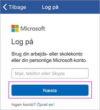Angiv din mailadresse