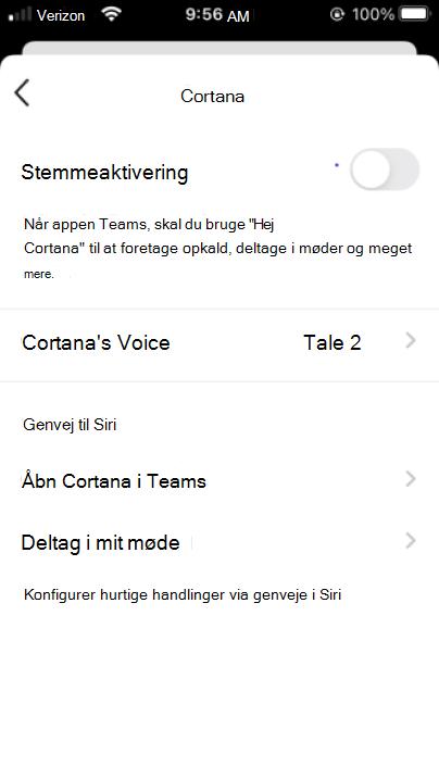 Cortana mobile aktivér Cortana-knap