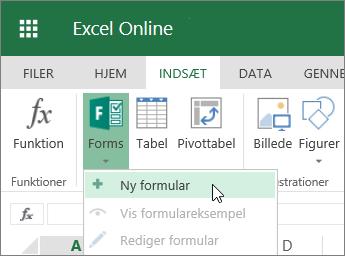 Formularer > Ny formular