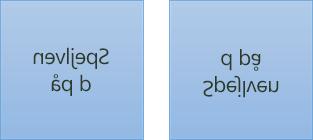 Et eksempel på spejlet tekst: Første del er roteret 180 grader på x-aksen, og anden del er roteret 180 grader på y-aksen