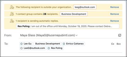 Eksempel på mail tips.