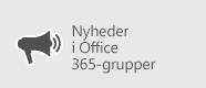Nyheder i Office 365-grupper