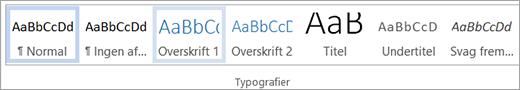 Fremhævet typografi i typografigalleriet