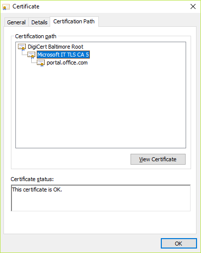 Vælge påkrævet certifikat under certifikatsti