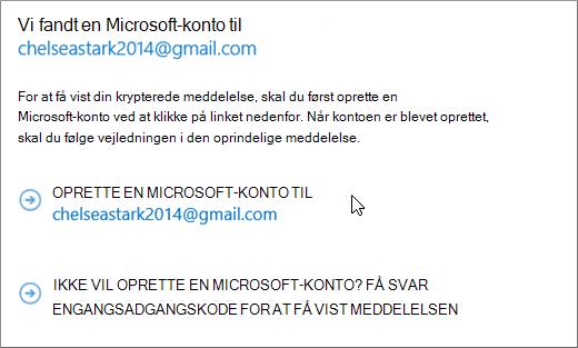 Oprette en Microsoft-konto