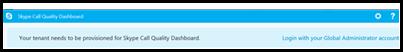 Logon til dashboardet Opkaldskvalitet
