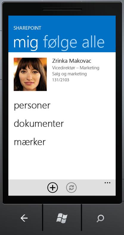 Pivotten Mig i SharePoint Newsfeed-app'en
