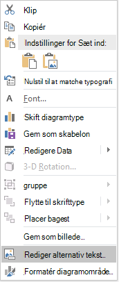 Menuen Rediger alternativ tekst i diagrammer i PowerPoint Win32