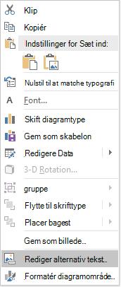 Menuen PowerPoint Win32-redigere alternativ tekst til diagrammer