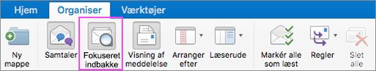 Fokuseret indbakke hjælper med at holde orden i din mail.