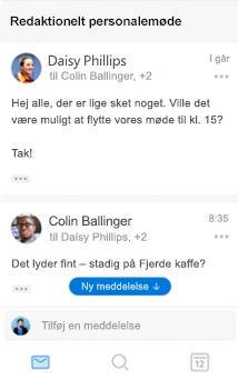 Ny samtaleoplevelse i Outlook til iOS