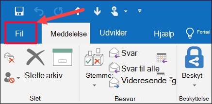 Vælg derefter Gem som i menuen Filer.