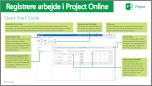 Startvejledningen Registrere arbejde i Project Online