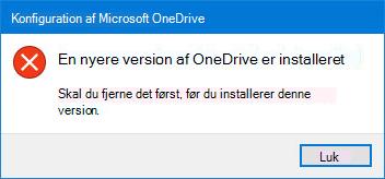 Pop op-OneDrive-fejl