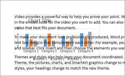 Eksempel på et diagram bag en tekstblok