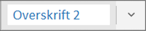 Menuen Typografier i OneNote til Windows 10-app