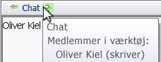 Pop op-vindue for chat-tilstedeværelse