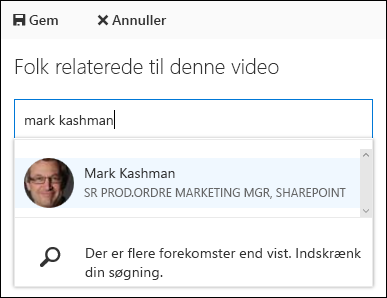 Office 365 Video knytte personer