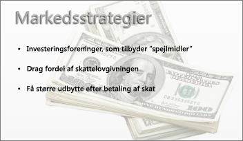 gennemsigtigt billede bag ved en PowerPoint-slide