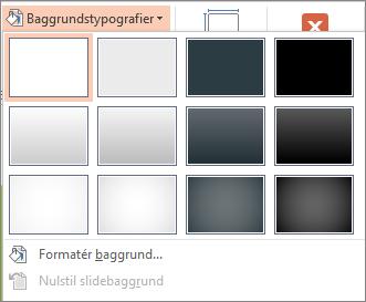 Baggrundstypografier i PowerPoint
