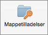 Knappen mappetilladelser i Outlook 2016 til Mac