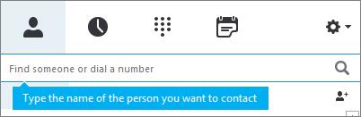 Søge efter en kontakt