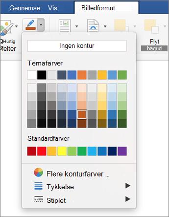 Klik på ikonet billed kontur