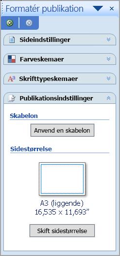 Formatér publikation