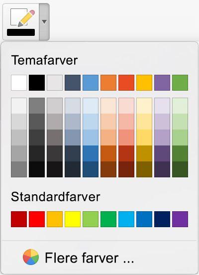 Udvidede valgmuligheder for blækfarve