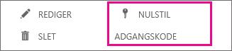 Nulstille adgangskoder for flere brugere.