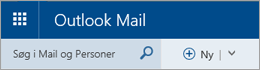 Menulinjen i Outlook Mail