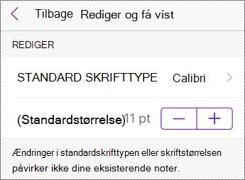 Skift skrifttype- og størrelsesindstillinger i indstillingerne på iPhone.