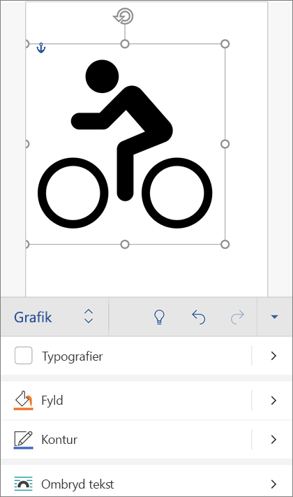 Et SVG-billede markeret, der viser fanen grafik på båndet