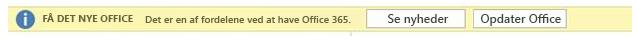 Få det nye Office