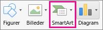SmartArt-organisationsdiagram