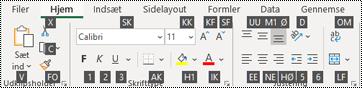 Tip til Excel-bånd tasterne