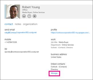 administrer profiler til kontakt